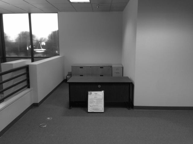 The GJ desk & cabinet is currently located in the foyer of the Sheriff and Public Works building.