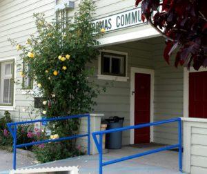 The welcoming Aromas Community Grange.