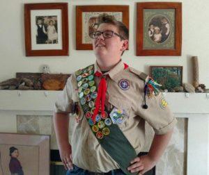 The Eagle Scout himself: Brendan Barton.
