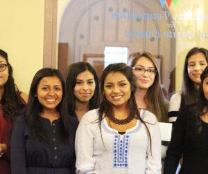 (Left to Right) Gabriela Rivera, Georgina Patino,Yumira Perez, Sheyla Pastrana, Natalie Delgado, Adrianna Guiterrez, Maria Garcia Padilla