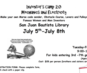 Youth have an opportunity to learn about electricity and maechanics