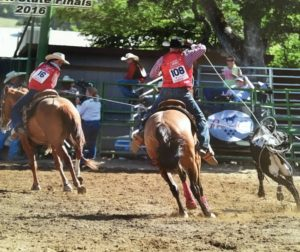 Lilla Bell and Jake Bourdet, both age 14, have been roping together for three years.