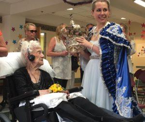 Mary Medeiros shares her crown with birthday girl, Clara Bettencourt.