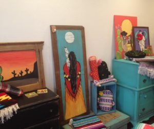 Handcrafted artwork on display at Artsy Chica Boutique. Photos by Frank Perez.