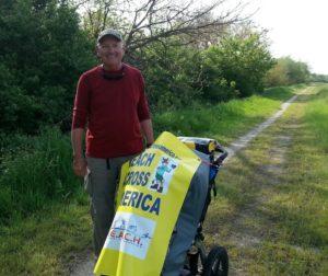 Jim Ostdick walks across America.