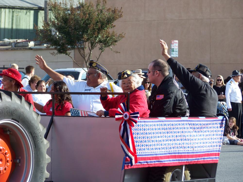 Lolita Pinuela in Veterans Day Parade.jpg