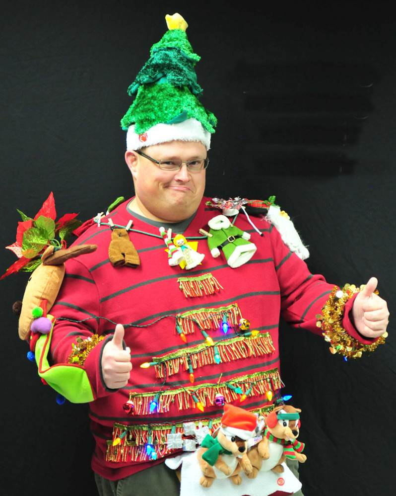 Man wearing an ugly sweater
