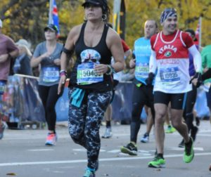 Michelle Perez-Perez competes in the 2016 New City Marathon. Courtesy of MarathonFoto.