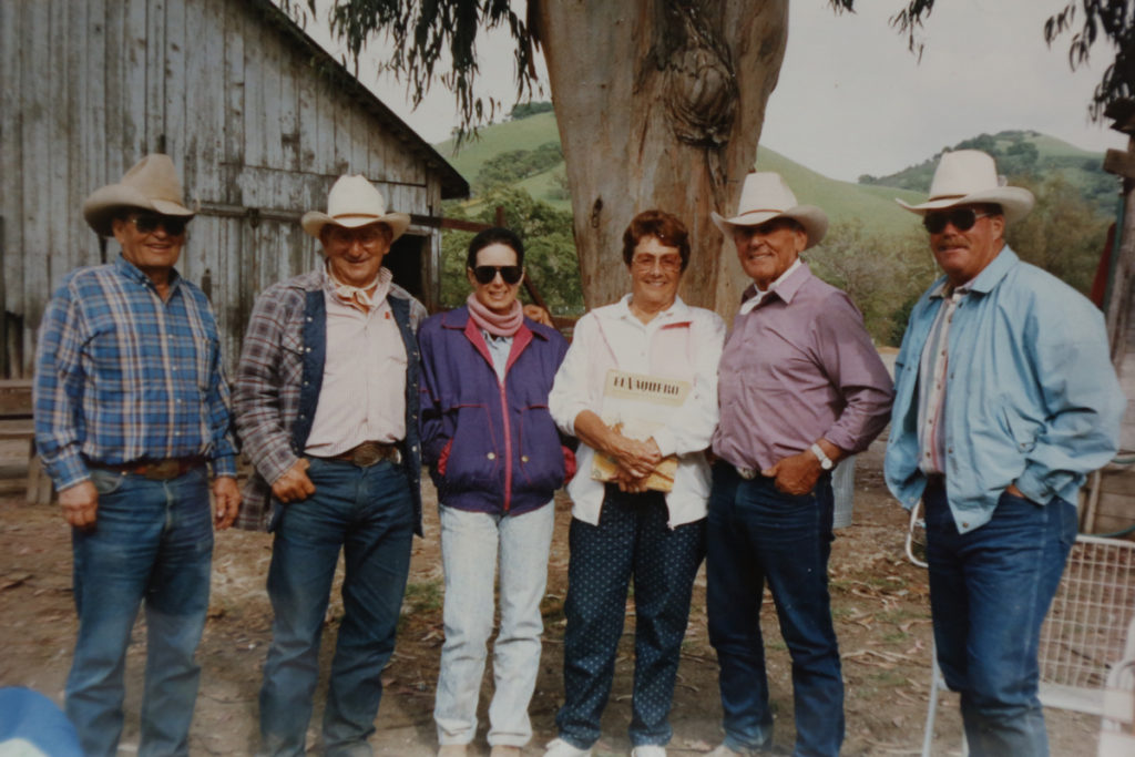 Bill Medeiros, Dick Vieira, Rebecca Medeiros Wolf, Irene and Al Silva and Jimmy Hawkins in the mid-1980s.
