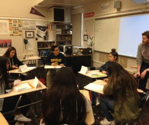 SBHS Migrant Education Speech and Debate Team during a recent practice session. Photos by Frank Perez.