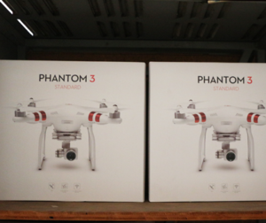 Drones in storage at San Martin Airport