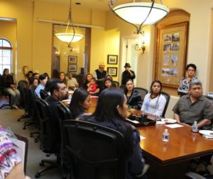 A reception was held in 2016 to award scholarships to eight Latinas from San Benito High School.