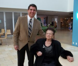 SBHS teacher and BenitoLink reporter, Frank Perez, with Tauba Weiss, a Holocaust survivor and widow of the late Morris Weiss. Photos courtesy of Frank Perez.