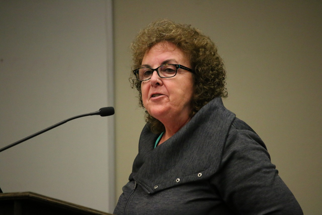 Sharlene Van Rooy accused the city of having turned a blind eye when it comes to the homeless at Dunne Park.