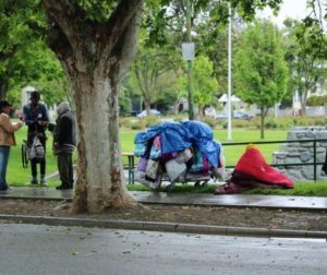 Residents who live across from Dunne Park want enforcement of laws to curtail what they say is illegal behavior by the homeless. Photos by John Chadwell.