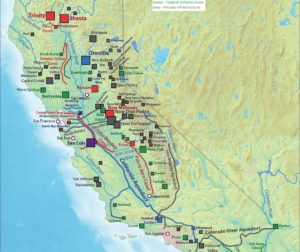 Map of water systems in California