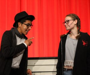 SBHS Drama 3 students rehearsing for the One-Act Festival. Photos courtesy of SBHS student photographer, Mykenzie Camino.