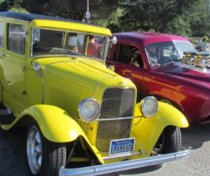 Cars of all colors, types, restored or in progress are shown at Marshall's Store in Aromas