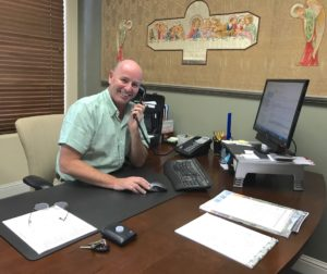 Gary Byrne said he is excited about his upcoming travels. Community Foundation staff will absorb his responsibilities while he is away. Photo by Leslie David.