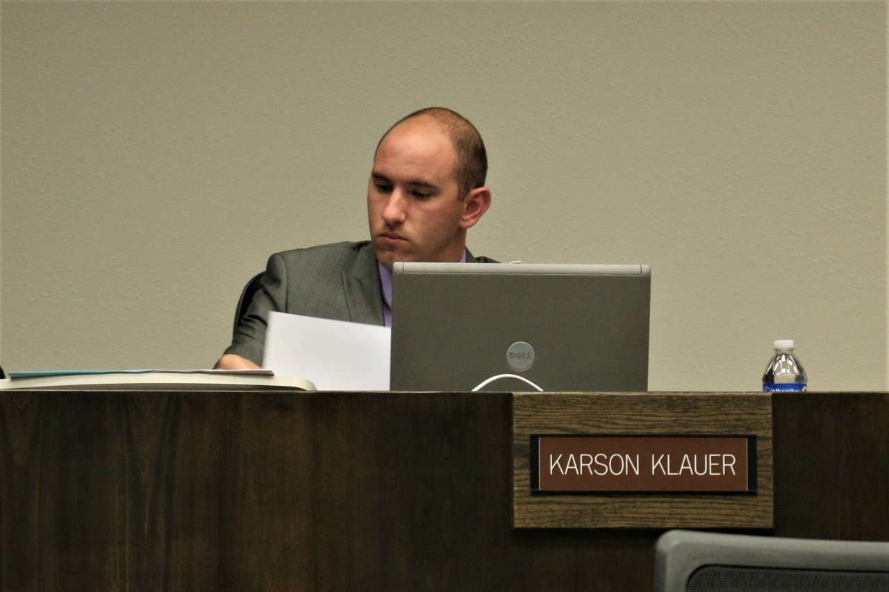 Karson Klauer said the plan has always been to develop the 400 block and not let it remain open space.