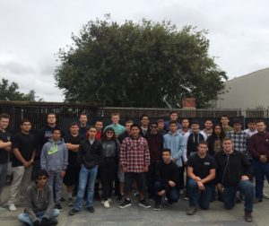 Students that were apart of fabricating for the CTE building