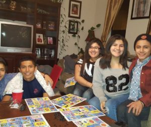 Sobreyra seated on the far left with his siblings Miguel, Nataly, Monica and Anthony.