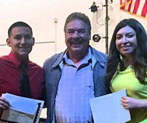 Left to right: Hernan Chavez, Bill Jacinto (1971 Baler) and Ethel Sandoval Barron.