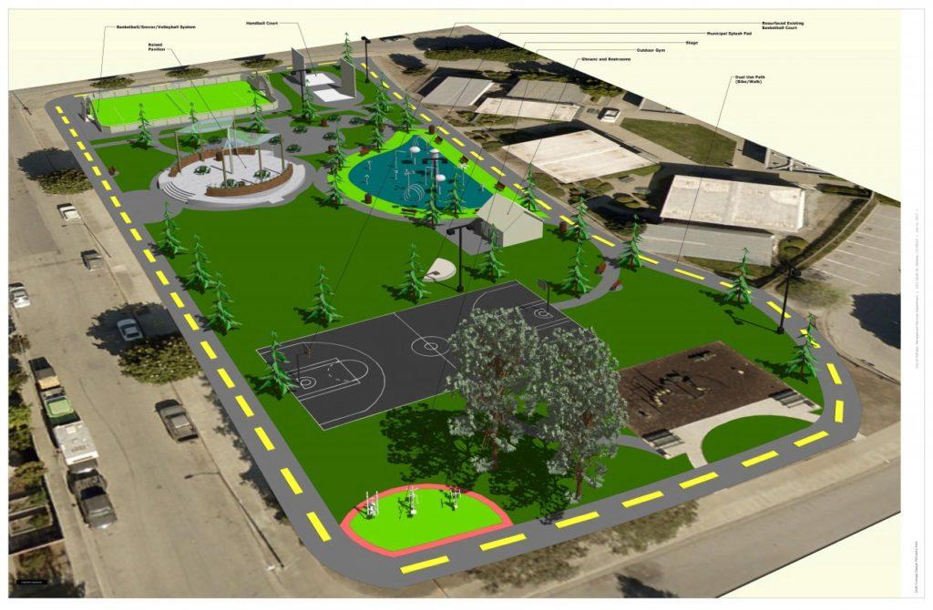 McCarthy Street Park revitalization project. Conceptual Plan #1.