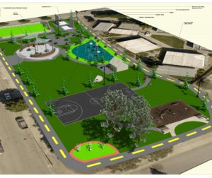 McCarthy Street Park revitalization project. Conceptual Plan #1.