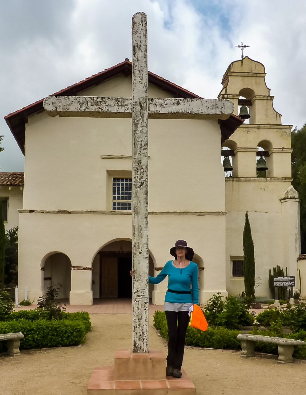 Edie in front of SJB Mission.jpeg