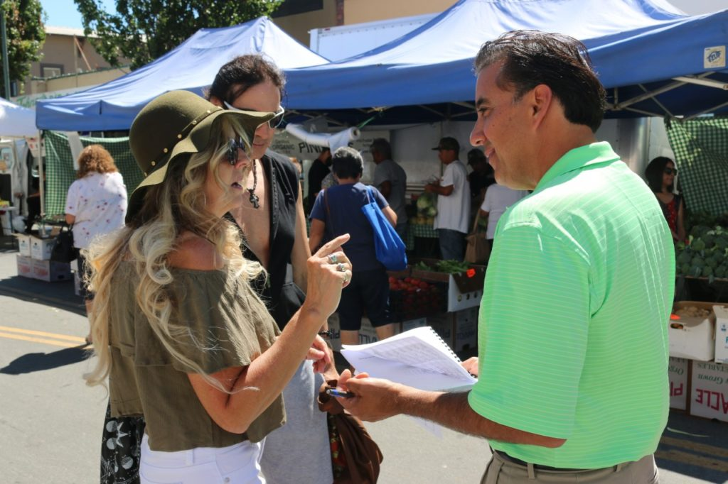 Mayor Ignacio Velazquez and others have gathered some 1,000 signatures so far. Photo by John Chadwell.