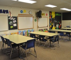 The classroom will be used by students in TK to fifth grade.