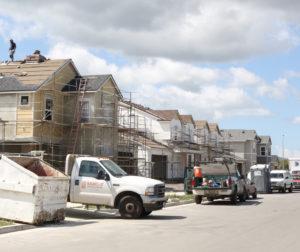 Homes under construction in Hollister. (Leslie David photo)