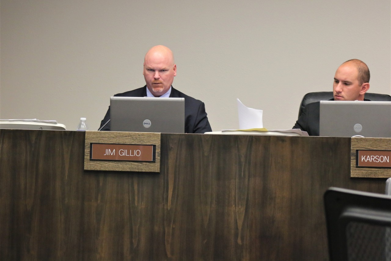 According to City Manager Bill Avera, Councilmen Jim Gillio, left, and Karson Klauer, should not have to recuse themselves in future votes on cannabis issues.