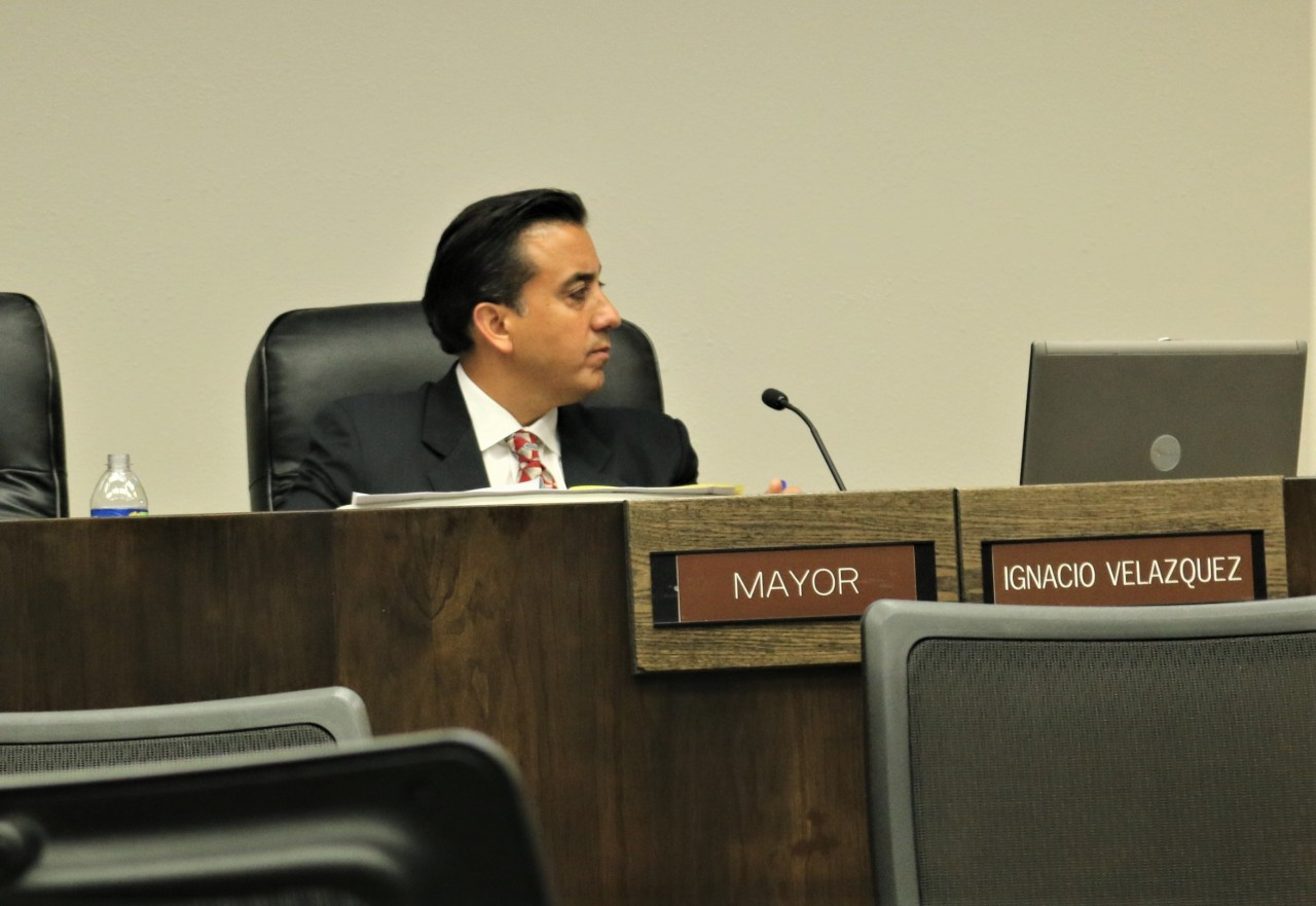 Mayor Ignacio Velazquez remained steadfast in his opposition to the cannabis ordinance.