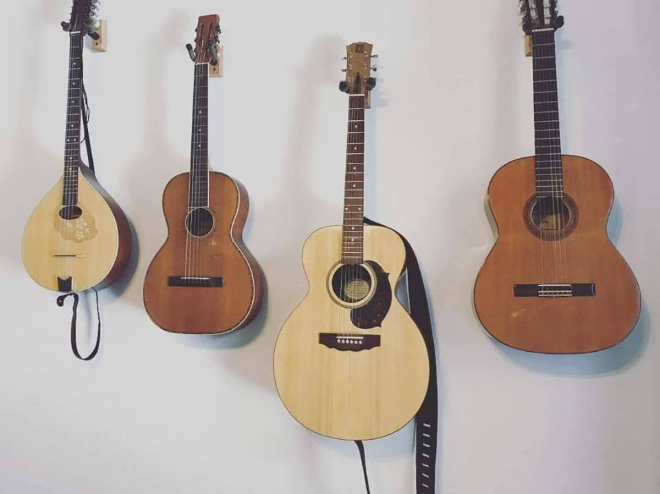 A selection of instruments students can learn to play at Mission City Music.