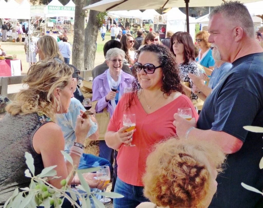 Wine tasting at the San Benito Olive Festival