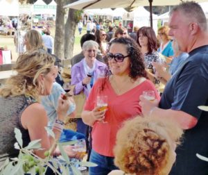 Wine tasting at the San Benito Olive Festival