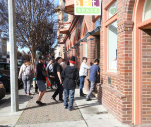 Students arrive at ArtSpace in downtown Hollister for art classes.