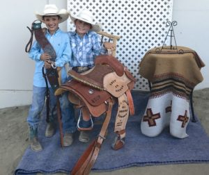 Huston Harbert, All Round Reserve for 8 and under (left) and Gage Holzum, All Round for 8 and under (right). Photo Courtesy Jennifer Holzum.