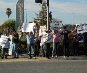 Local residents march for immigration reform in 2013.