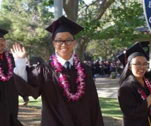 Gavilan College graduates wave