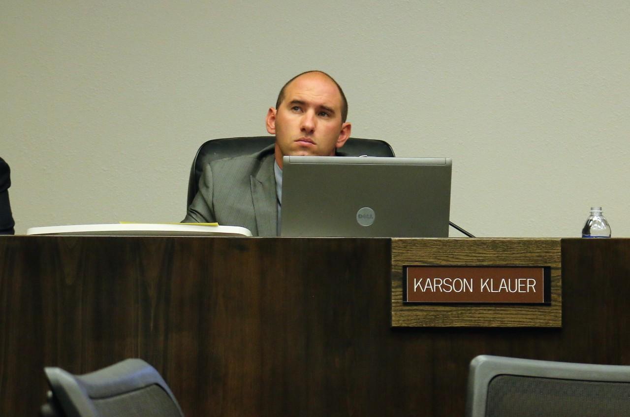 Councilman Karson Klauer pushed for placing petition on November ballot.
