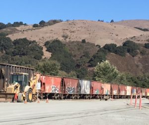 The rail cars transport the product...a familiar site in Aromas.