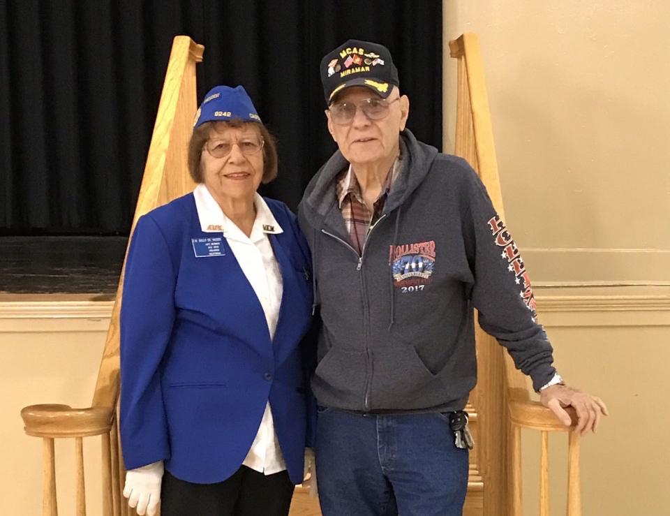 Korean War veterans, Dolly DeVasier and Retired Lt. Colonel Richard Castro