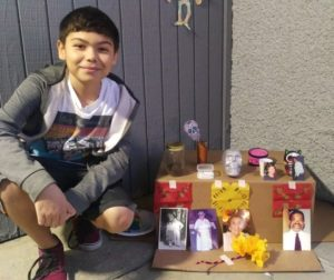 Student Ethan Lopez created his altar to honor multiple family members