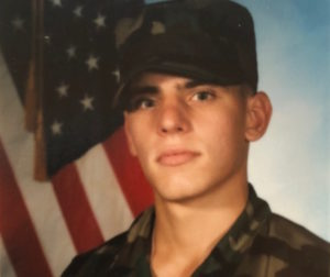 Kelly Burbank during his early years in the military. Photo Courtesy of Nereyda Burbank