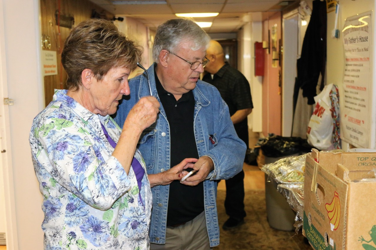Linda and Pat Lampe are at Our Father's House six days a week and spend most of their income supporting it.