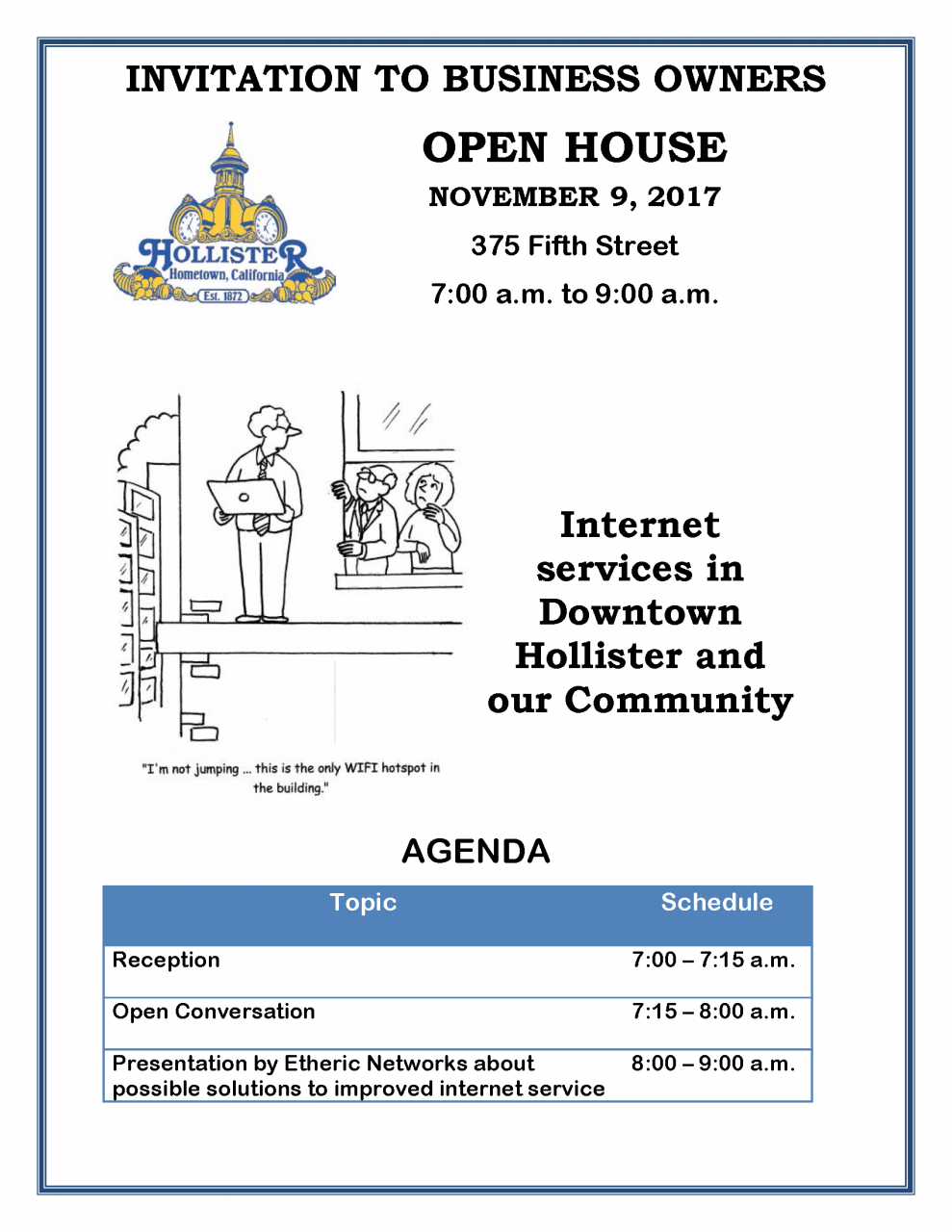 Invitation City of Hollister Open House 11 9 2017.png