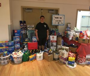 Michael Thomas rallied 4-H clubs around the county to donate. Photo provided by Patrice Kuershner